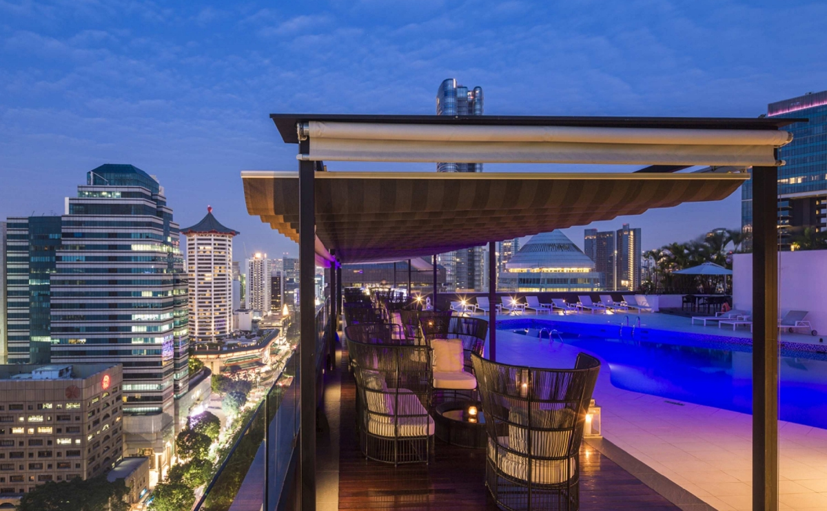 ヒルトンシンガポール夜景